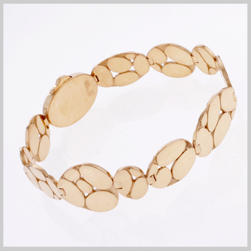 137694 JOHN HARDY 18K Yellow Gold Kali Slim Flexible Bracelet, Size M