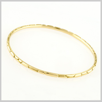 139579 JOHN HARDY 18K Yellow Gold Kali Slim Bangle, Size M