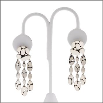 124728 JOHN HARDY WOMEN's Kali Menari Silver Chandelier Earrings