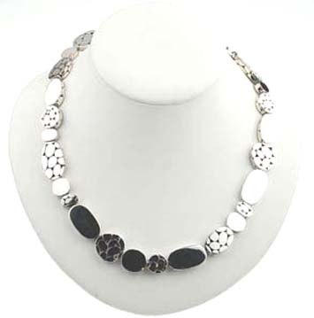 "130389 JOHN HARDY Kali Silver Menari Bead Necklace, Size 36"""
