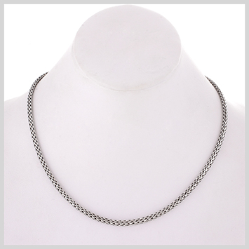 118808 JOHN HARDY BABY's Classic Chain Silver Slim Necklace (3.72mm), Size 13