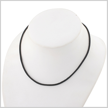 119089 JOHN HARDY BABY's Classic Chain Silver Black Satin Cord Necklace with Lobster Clasp, Size 13