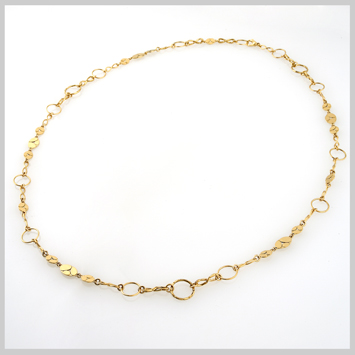 137623 JOHN HARDY 18K Yellow Gold Kali Menari Round Link Necklace, Size 36""